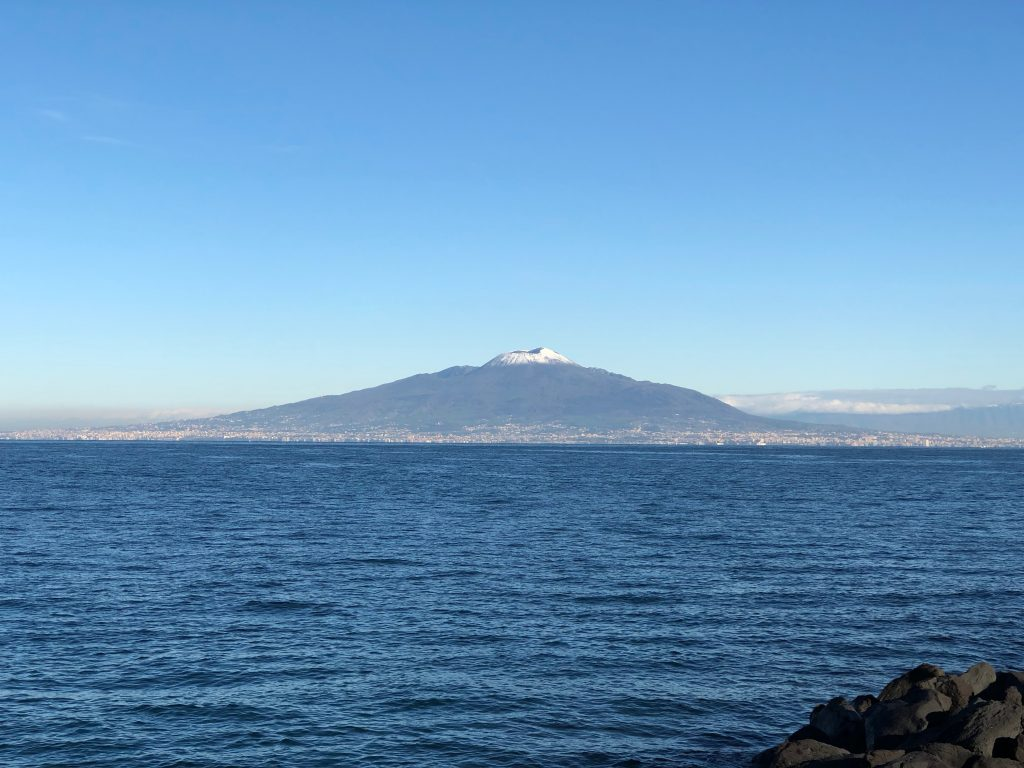 Mount Vesuvius from across the Bay of Naples
